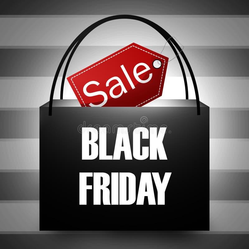 Saco de compras de Black Friday ilustração do vetor