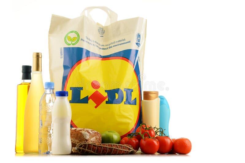 Download Saco De Compras E Produtos Plásticos Originais De Lidl Fotografia Editorial - Imagem de disconto, loja: 80101502