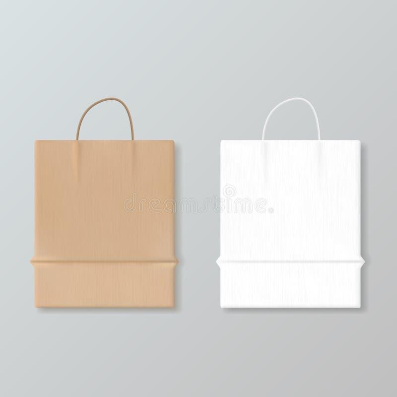 Saco de compras de papel vazio novo para anunciar e marcar ilustração royalty free