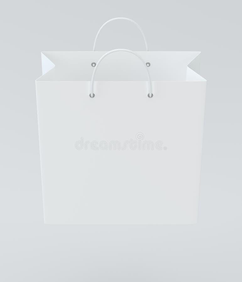 Saco de compras vazio na rendição do estúdio para anunciar e marcar ilustração 3D ilustração royalty free