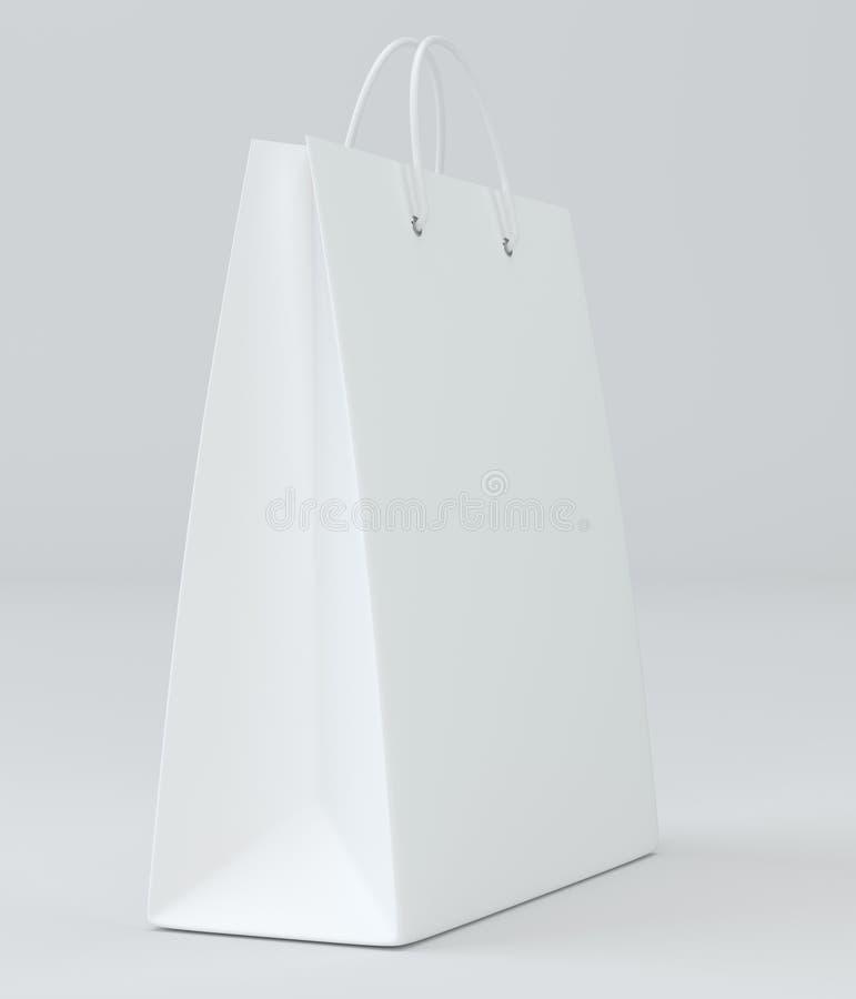 Saco de compras vazio na rendição do estúdio para anunciar e marcar ilustração 3D ilustração stock