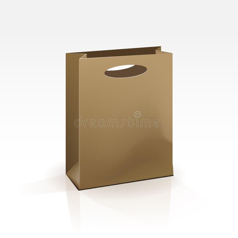 Download Saco De Compras Vazio No Fundo Branco Ilustração do Vetor - Ilustração de caixa, presente: 29849364