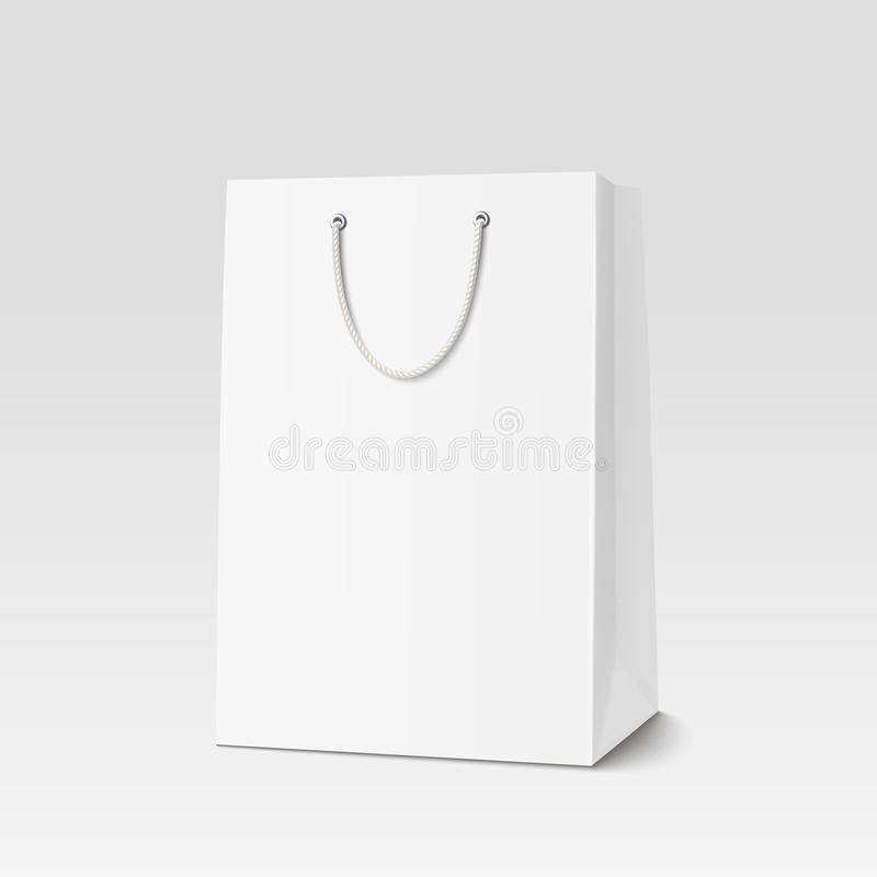 Saco de compras vazio para anunciar e marcar ilustração do vetor