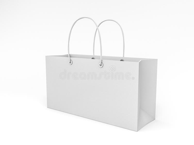 Saco de compras vazio para anunciar e marcar ilustração stock