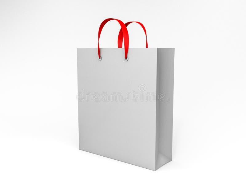 Saco de compras vazio para anunciar e marcar 3d ilustração royalty free