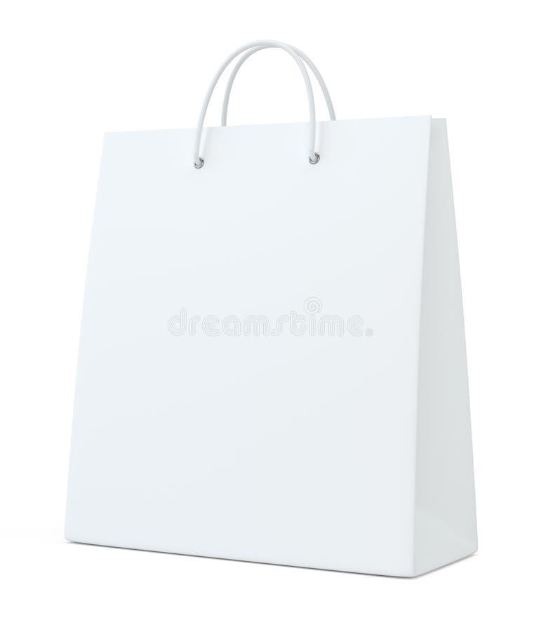 Saco de compras vazio para anunciar e marcar ilustração 3D ilustração royalty free