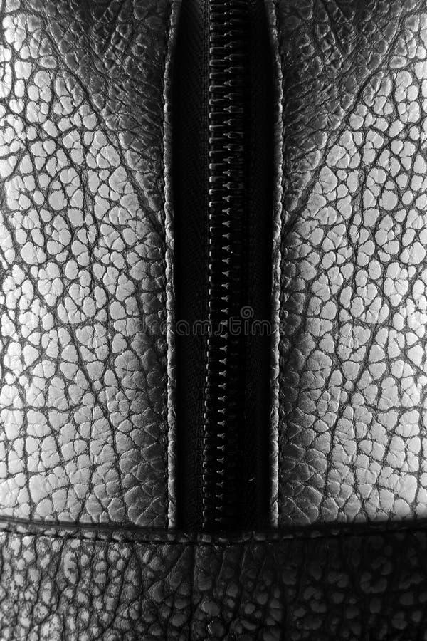 Saco de couro com fotografia de stock royalty free