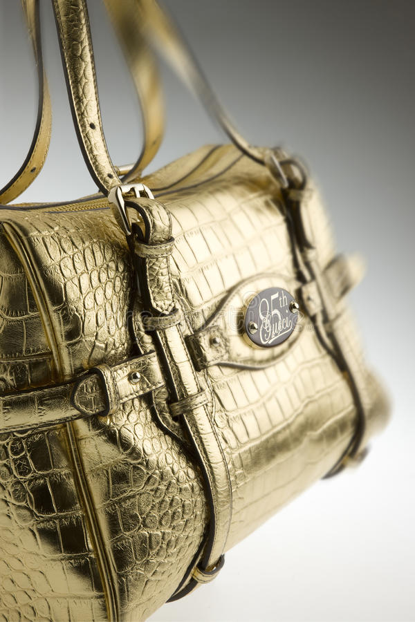 Saco de couro das mulheres de Gucci foto de stock royalty free