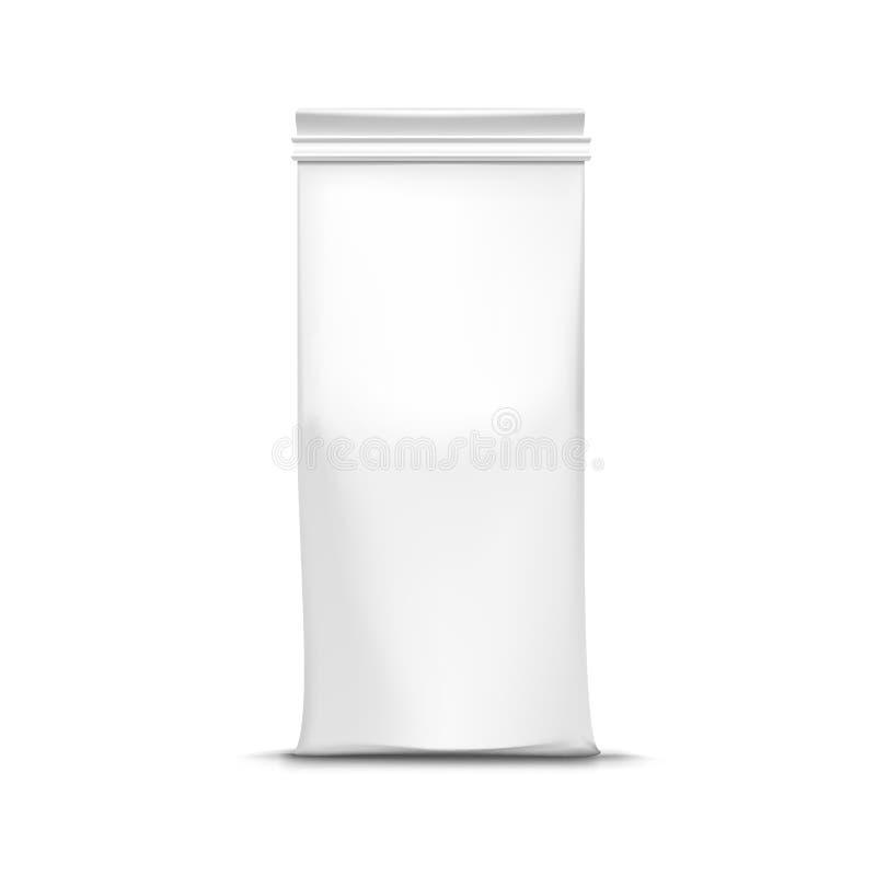 Saco de empacotamento do pacote do chá do café do vetor isolado ilustração do vetor