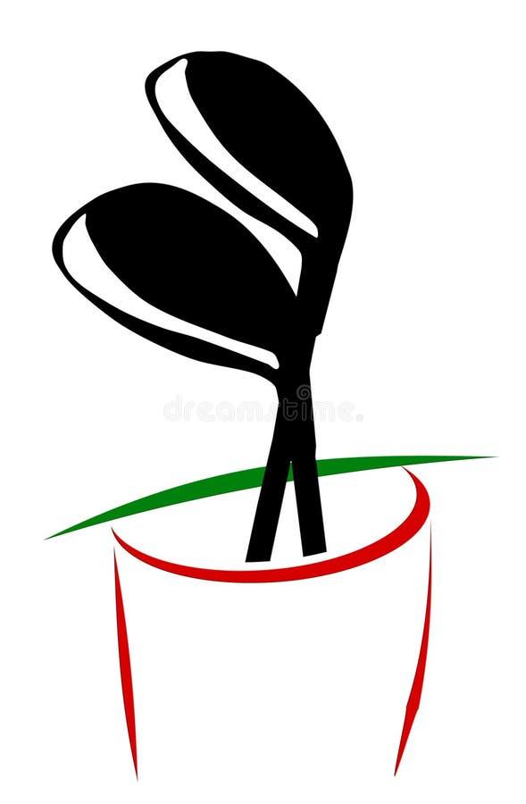 Saco de golfe ilustração royalty free