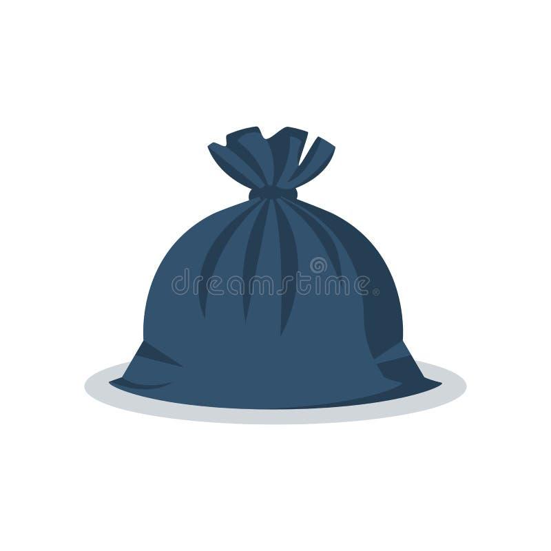 Saco de lixo Estilo dos desenhos animados dos pacotes ilustração stock