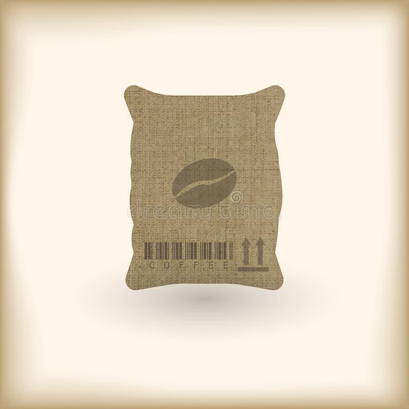 Saco de matéria têxtil do café ilustração royalty free