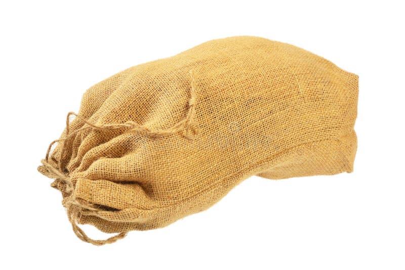 Saco de pano com cordões imagem de stock