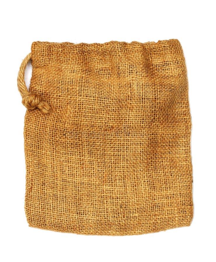 Saco de pano do cânhamo foto de stock