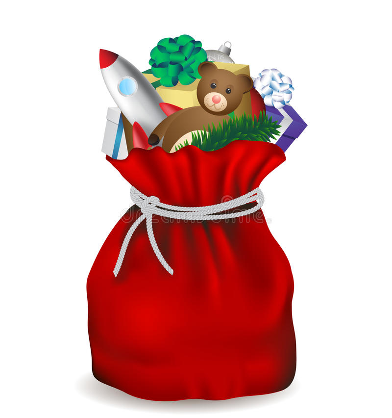 Saco de Papai Noel ilustração royalty free