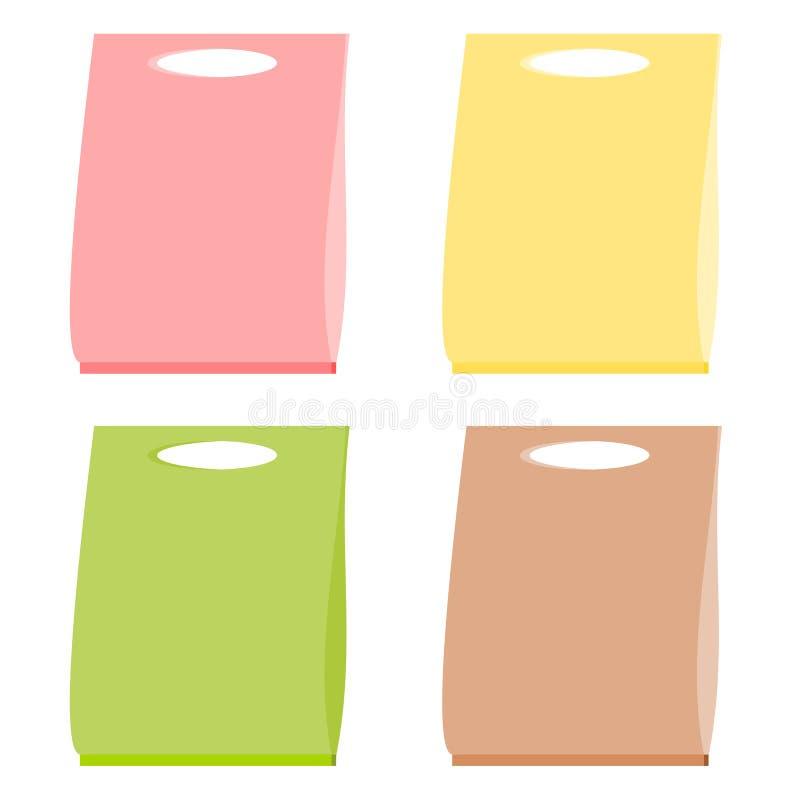 Saco de papel ilustração stock