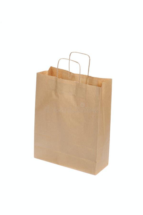 Saco de papel ecológico imagens de stock