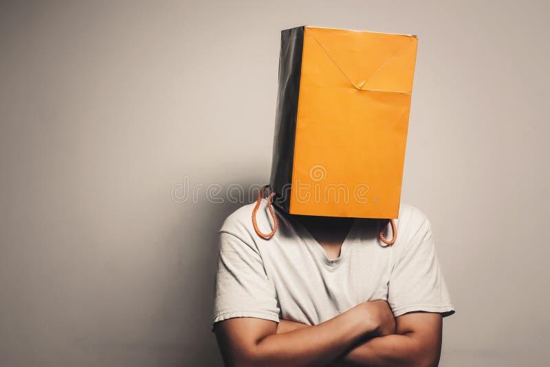 Saco de papel na cabeça foto de stock royalty free
