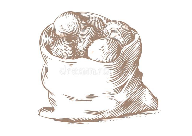 Saco de patatas libre illustration