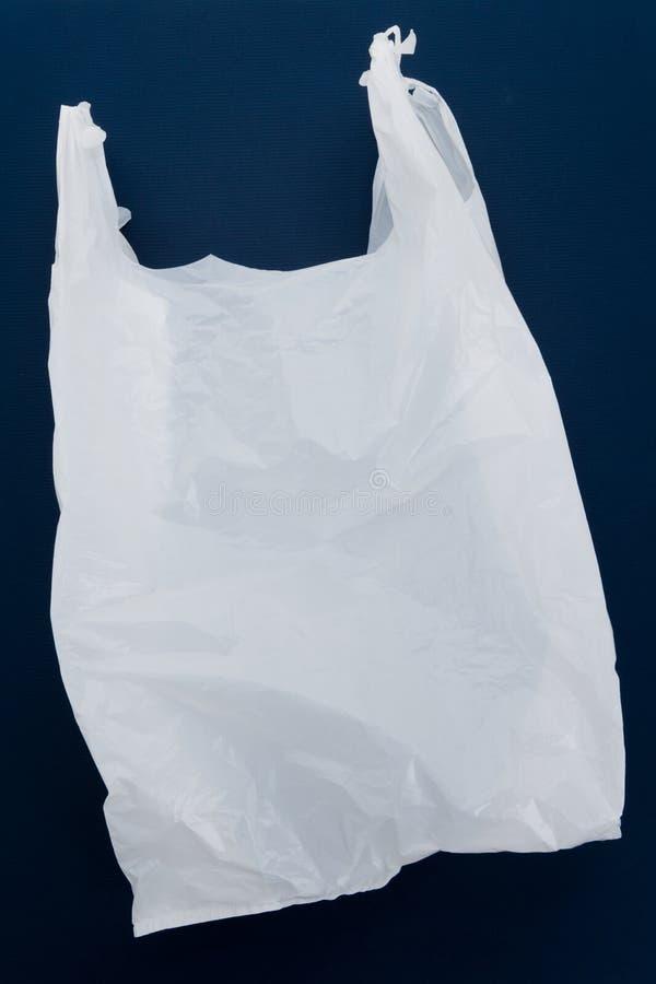 Saco de plástico branco imagem de stock