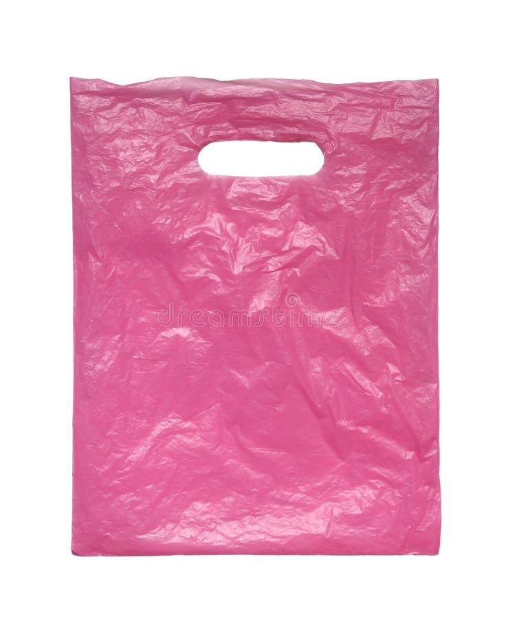 Saco de plástico cor-de-rosa. fotografia de stock royalty free