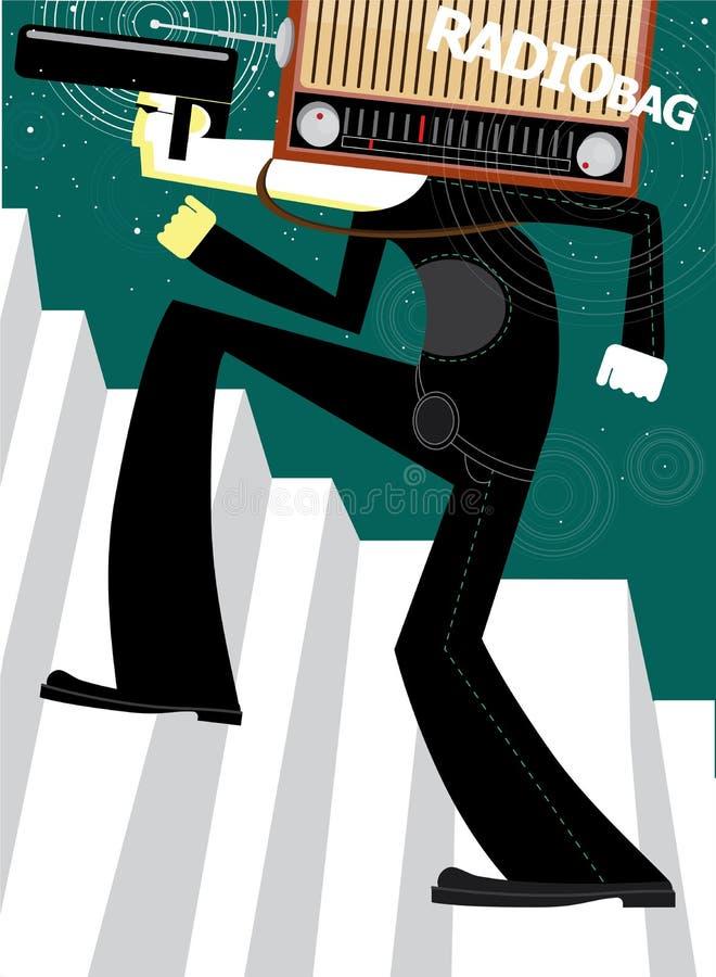 Saco de rádio ilustração do vetor