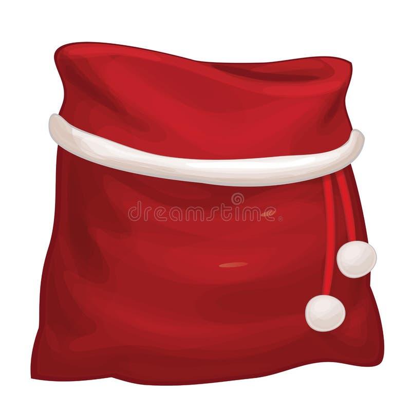 Saco de Santa Claus do vetor ilustração do vetor