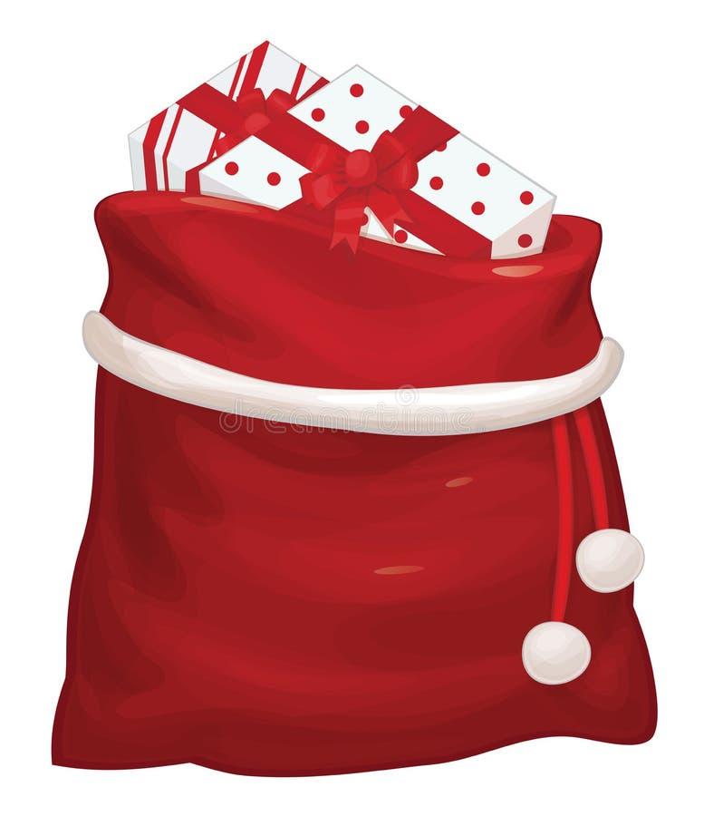 Saco de Santa Claus do vetor ilustração royalty free