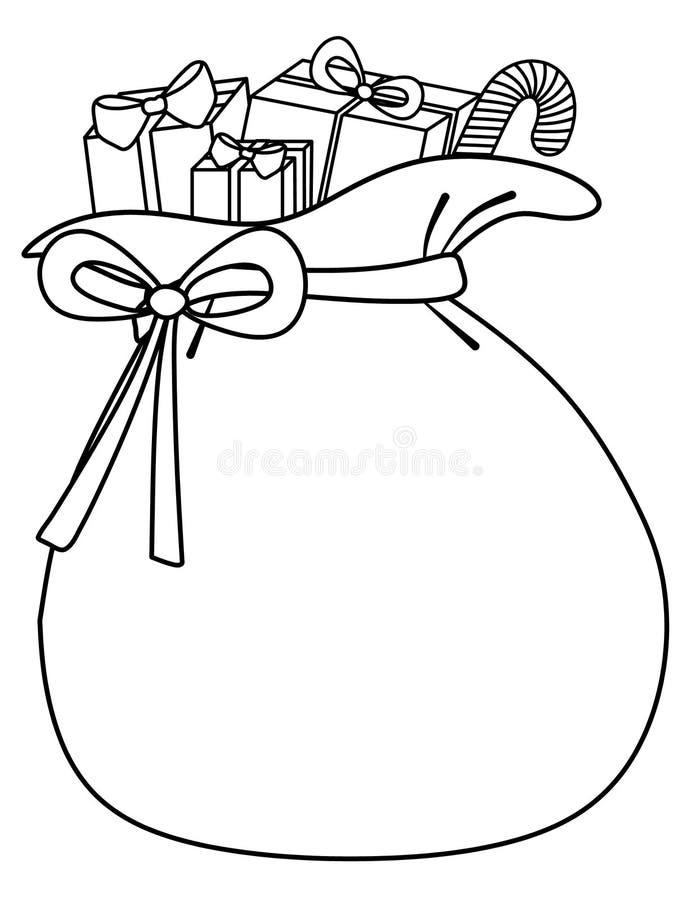 Saco de Santa de fondo de los juguetes libre illustration