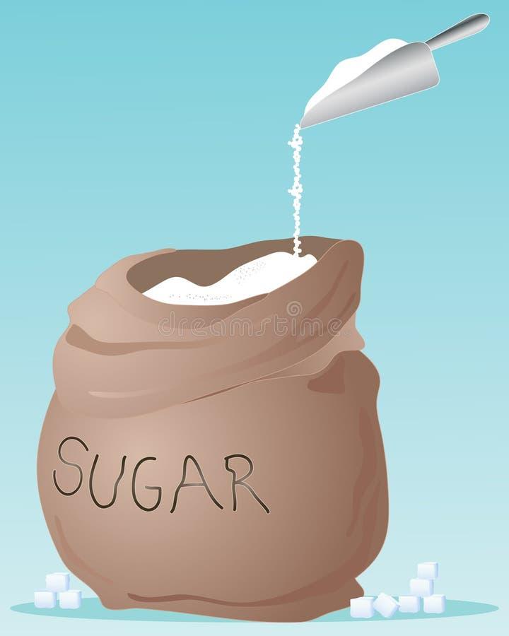 Saco del azúcar ilustración del vector