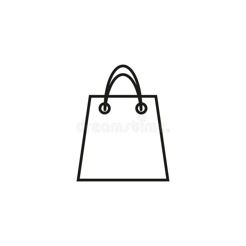 Saco do ícone da loja ilustração royalty free