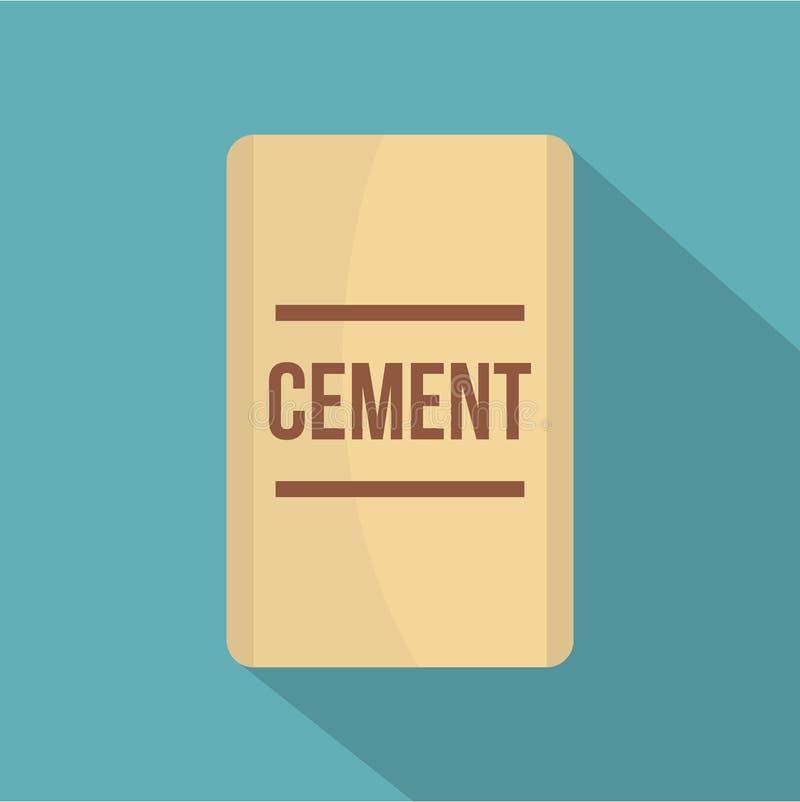 Saco do ícone do cimento, estilo liso ilustração royalty free