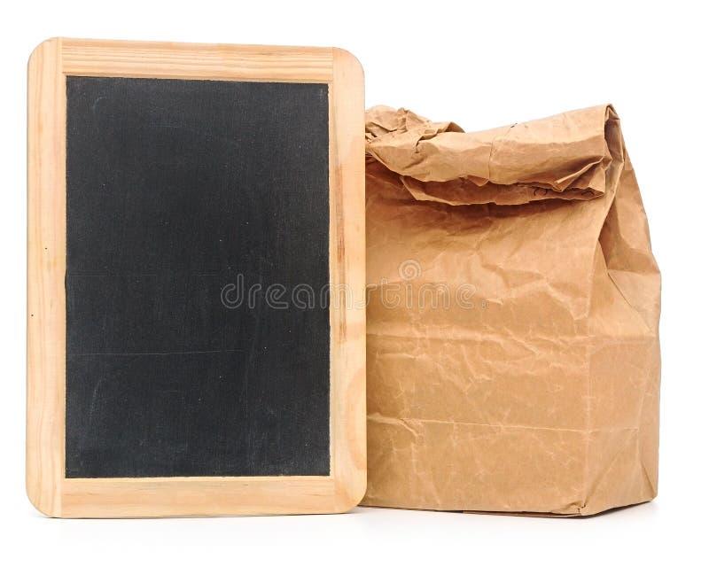 Saco do almoço escolar foto de stock