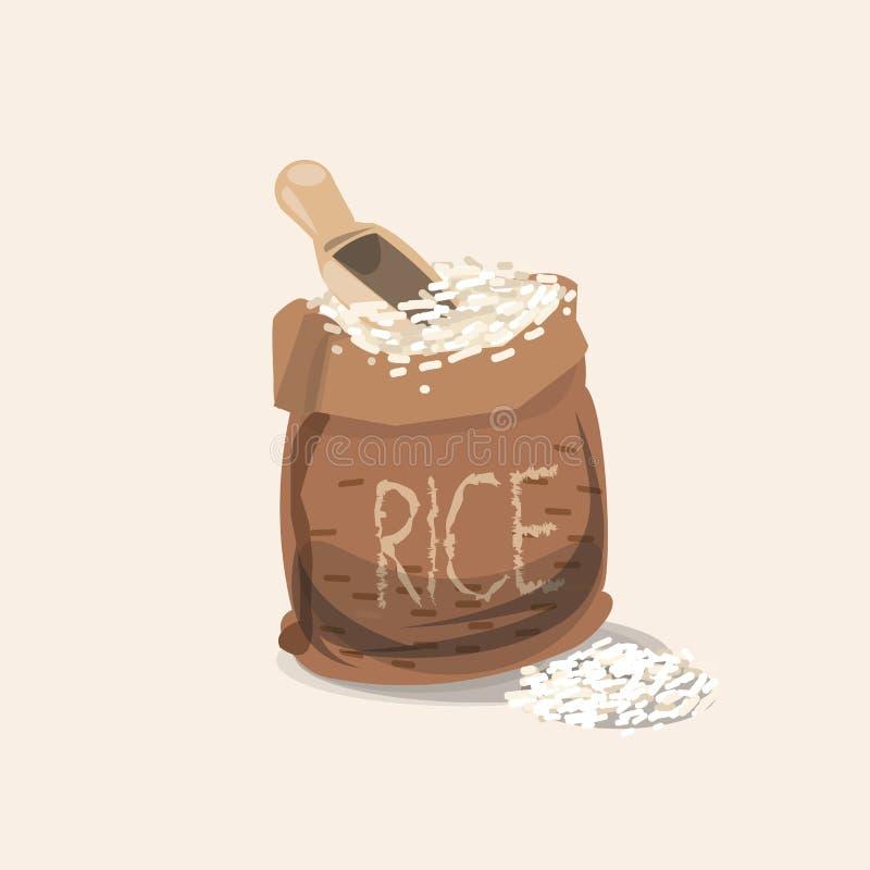 Saco do arroz - ilustração stock