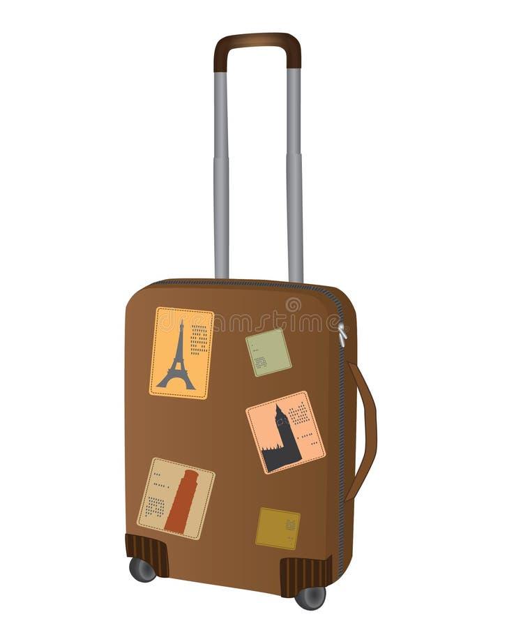 Download Saco do curso ilustração do vetor. Ilustração de suitcase - 29837203