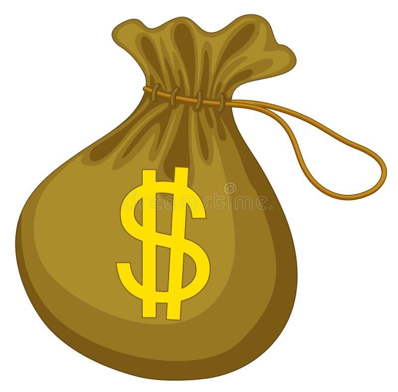 Saco do dinheiro ilustração stock