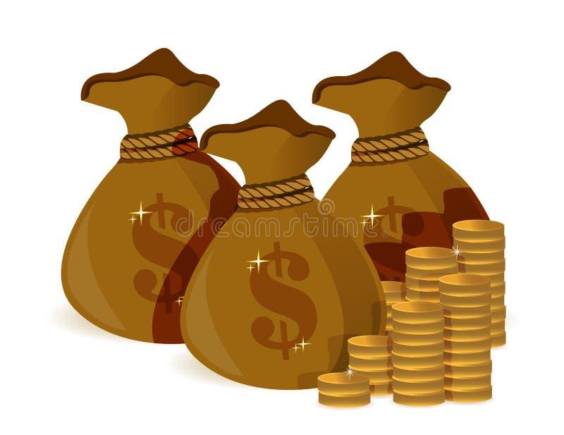 Saco do dinheiro ilustração do vetor