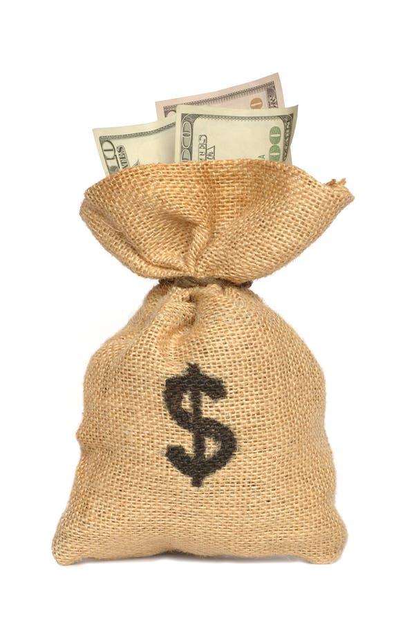 Saco do dinheiro fotos de stock royalty free