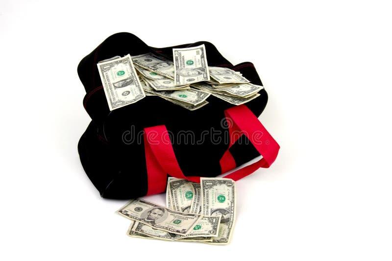 Saco do dinheiro fotos de stock