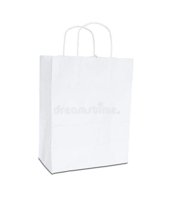 Saco do Livro Branco isolado imagens de stock royalty free