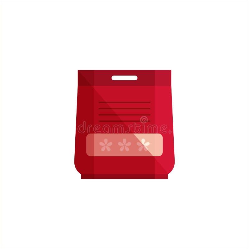 Saco do pó isolado no fundo branco Logotipo do serviço da limpeza, detergente para a roupa e produtos do desinfetante para a mão ilustração royalty free