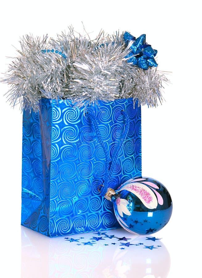 Saco do presente do Natal imagem de stock royalty free