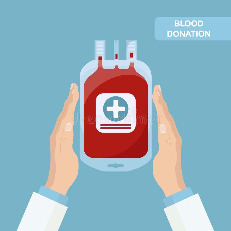 Saco do sangue Doação de sangue imagem de stock royalty free