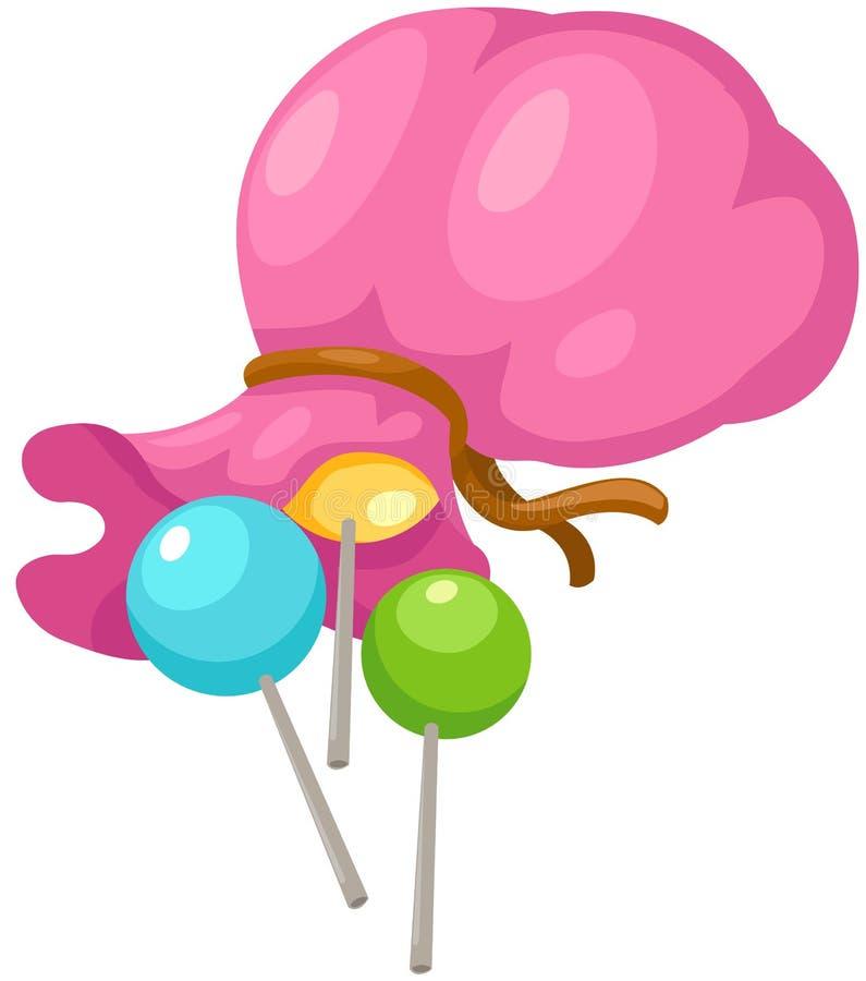 Saco dos doces ilustração royalty free