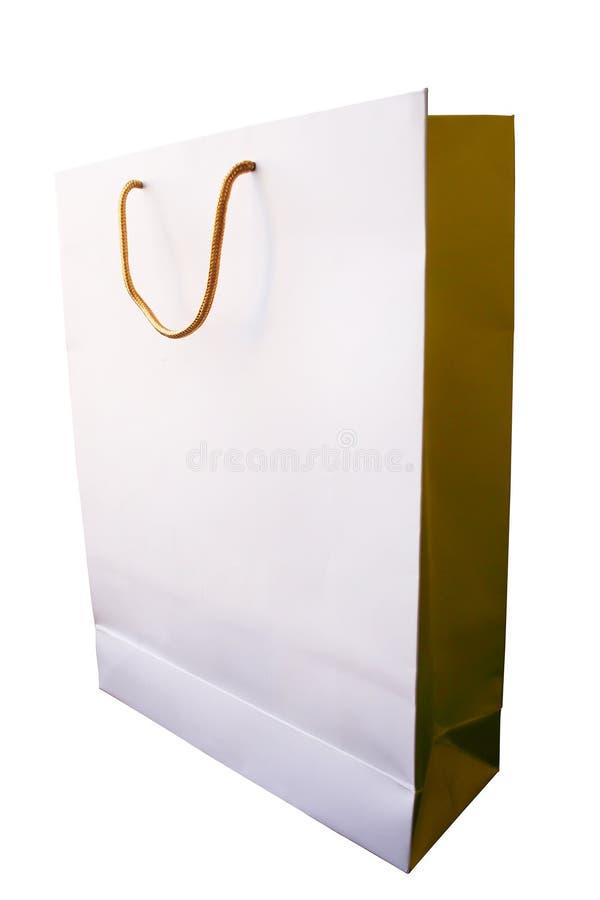 Saco dourado fotografia de stock