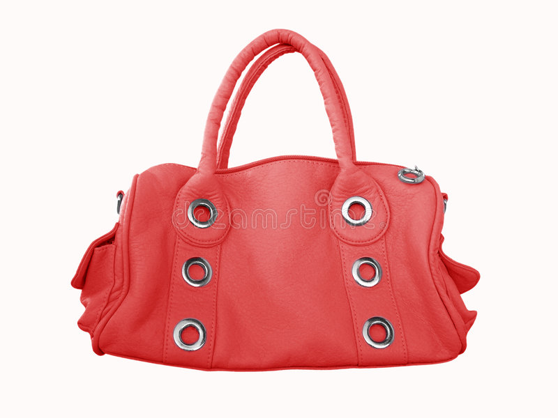 Saco fêmea vermelho imagem de stock royalty free