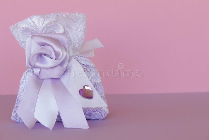 Saco lilás para doces imagem de stock royalty free