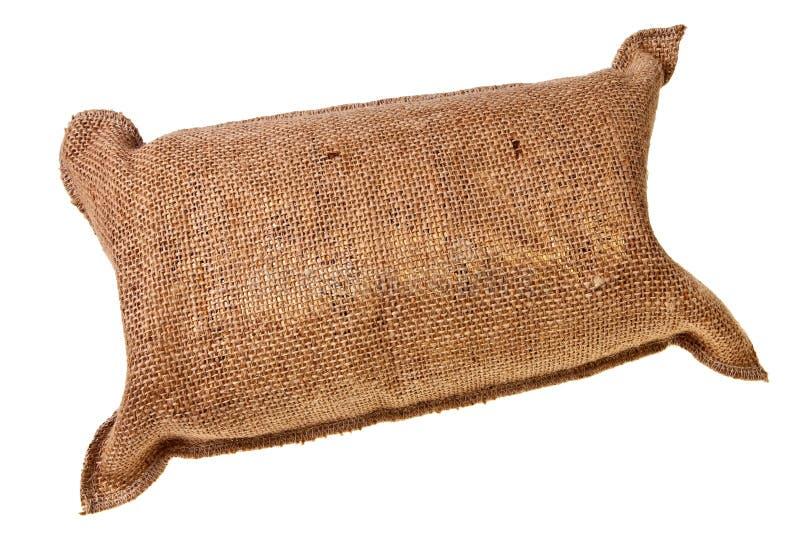 Saco lleno del yute. fotografía de archivo libre de regalías