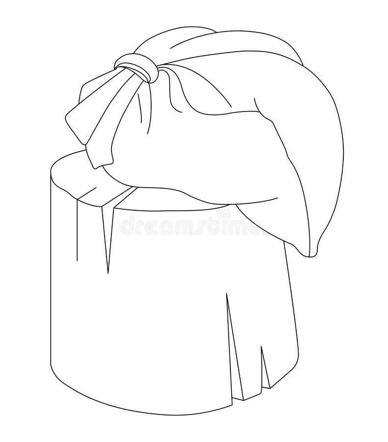 Saco no coto no fundo branco ilustração royalty free