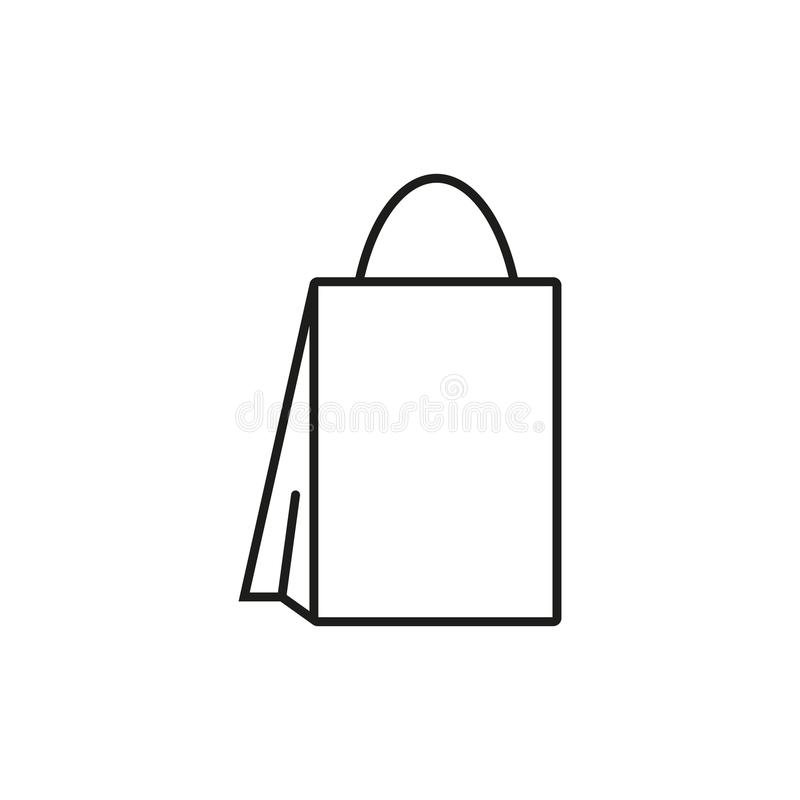 Saco para o ícone da loja ilustração do vetor